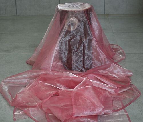 """5 ~ 10 ~ 20 ~ 30 ~ 40 ~ 50 mètres Organza Tissu robe artisanat drapé Mariage À faire soi-même 45/"""" L"""