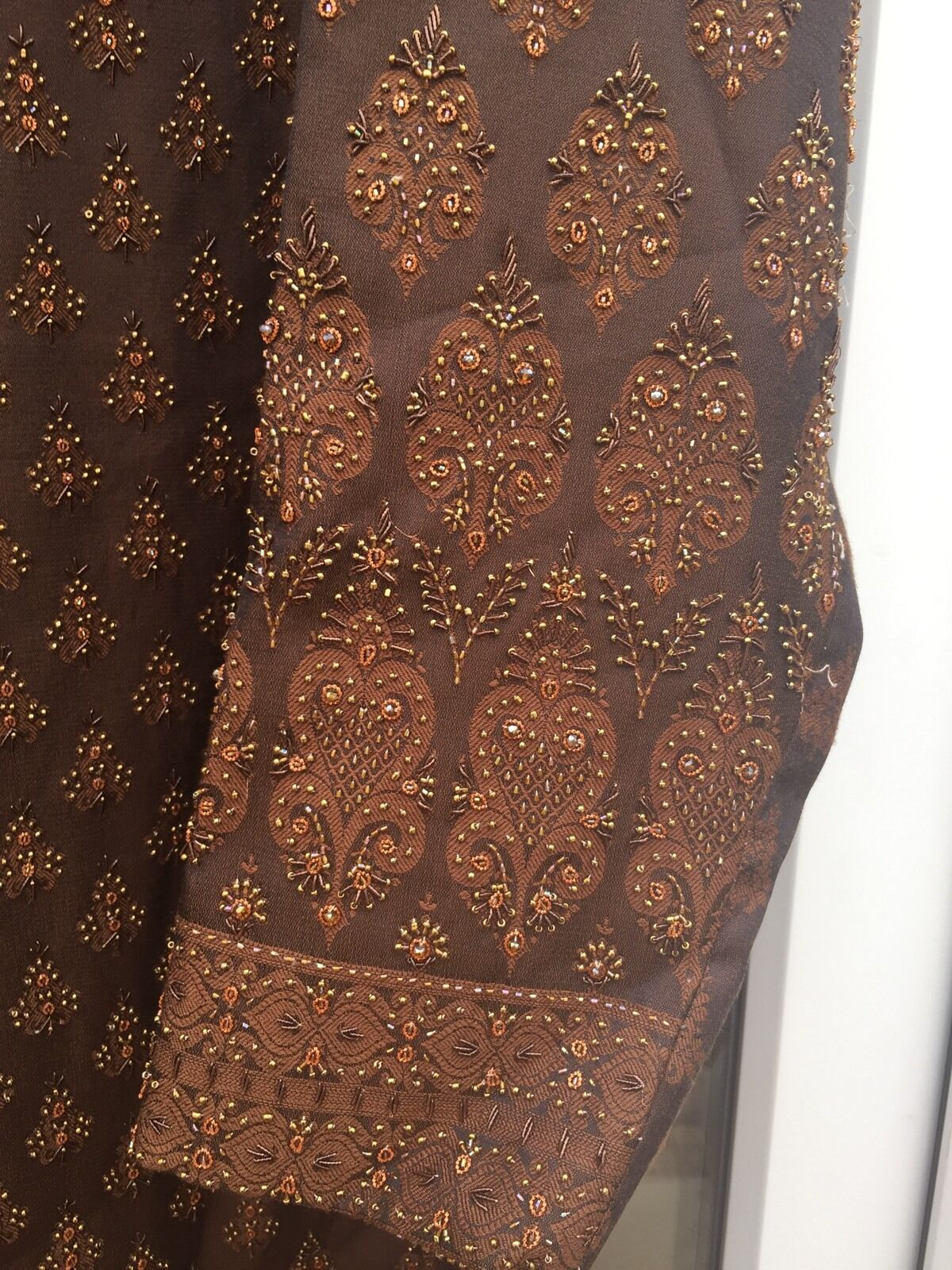 Mens Wedding Sherwani Long Coat Embroidery Elegant .
