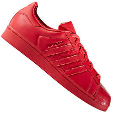 a98f6b74f279 Womens adidas Originals Superstar Glossy Toe Trainers in Ray Red UK ...