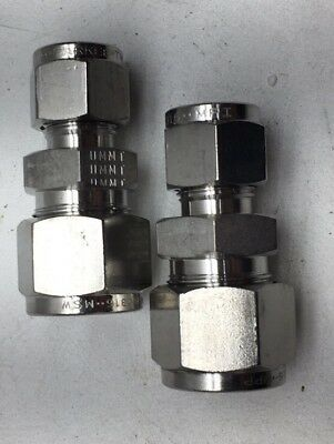 Parker A-Lok 8RU4-316 316 Stainless Steel Compression Tube Fitting 1//2 Tube OD x 1//4 Tube OD Reducing Union