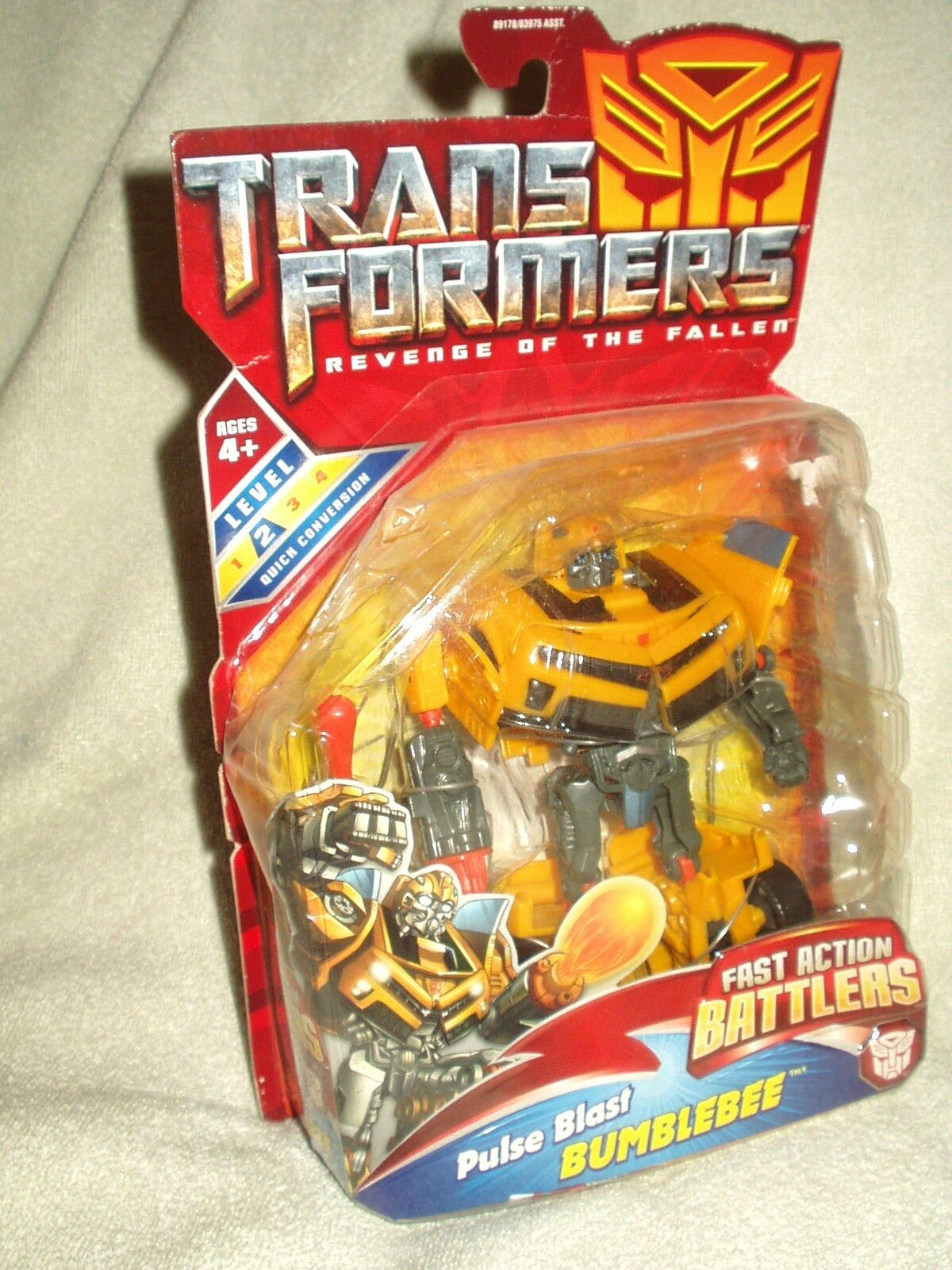 Transformers Action Figure redF Movie Fast Action Battlers Bumblebee 6-7 inch