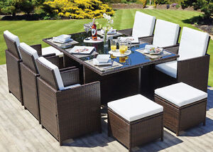 Amazing Details About Rattan Garden Furniture Set Chairs Table Outdoor Patio Wicker 10 Seat Cube Set Home Interior And Landscaping Palasignezvosmurscom