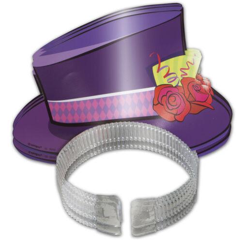4 Storybook Mad Hatter Children/'s Tea Party Top Hat Tiaras Headbands