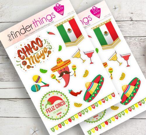 Precut and Fun Planners Cinco de Mayo Stickers for Scrapbook