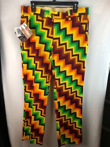 50% off reputation first fashion styles Details about MENS LOUDMOUTH X STEPPING OUT GOLF SLACKS PANTS NWT 34X33  COLORFUL