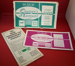 1977 Buick Owner's Manual with Inserts for Lesabre Electra ...