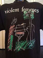 Vintage 89 Violent Femmes Tour Shirt Sz XL New Wave Alternative Metal Punk Rock