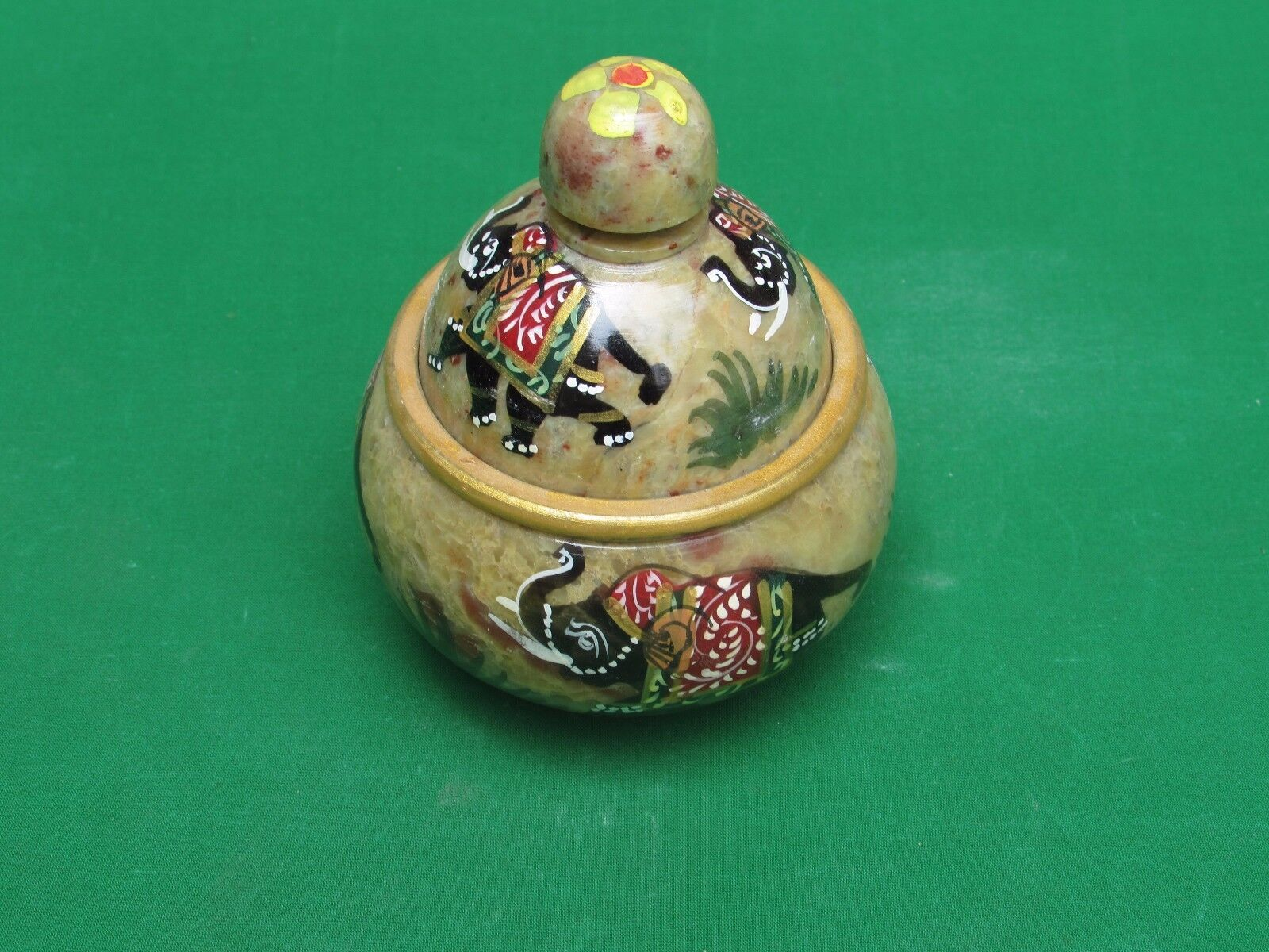 Marble Jewelry Box Stone Art Craft Handpainted Handmade for home decor and gifts