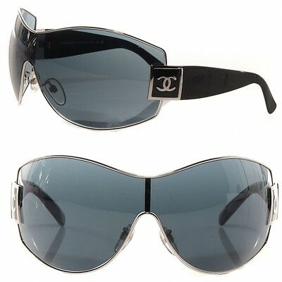 CHANEL 4114 OVERSIZED BLACK & SILVER  OUTSTOCK SUNGLASSES