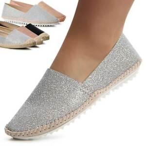 Damenschuhe Plateau Halbschuhe Loafer Slipper Derby Ballerina Glitzer