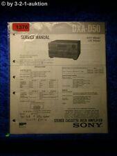 Sony Service Manual DXA D50 Cassette Deck Amplifier (#1376)