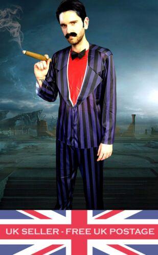 Gomez Addams Adams Family Costume Men Halloween Vampire Dracula Fancy Dress Film