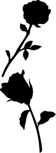 BOTTLE 10 X MIXED STYLES OF ROSE FLOWER VINYL STICKER FOR CRAFT WINE GLASS
