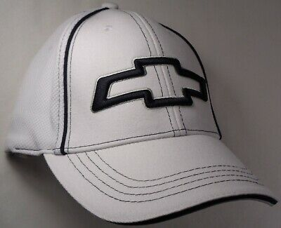 Hat Cap Licensed Flex Fitted Chevrolet Chevy Bowtie White Small or Large HR 207