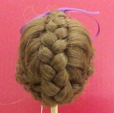 VINTAGE DollSpart Size 8-15 Princess Light Brown Hair Dynel Doll Wig NEW