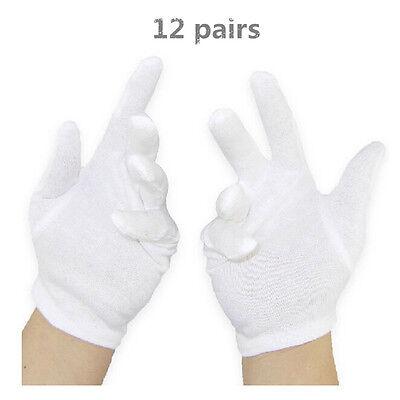 12 Pairs Hot White Cotton General Purpose Moisturising Lining Gloves Health Work