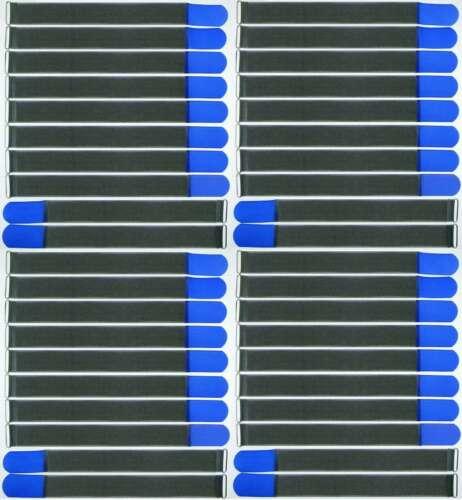 40 Klett Kabelbinder 500 x 50 mm blau FK Kabelklettband Kabelklett Klettband Öse