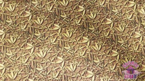 Paintbrush Studios Nature Trail Strewn Leaves Herb Marijuana 100/% Cotton Fabric