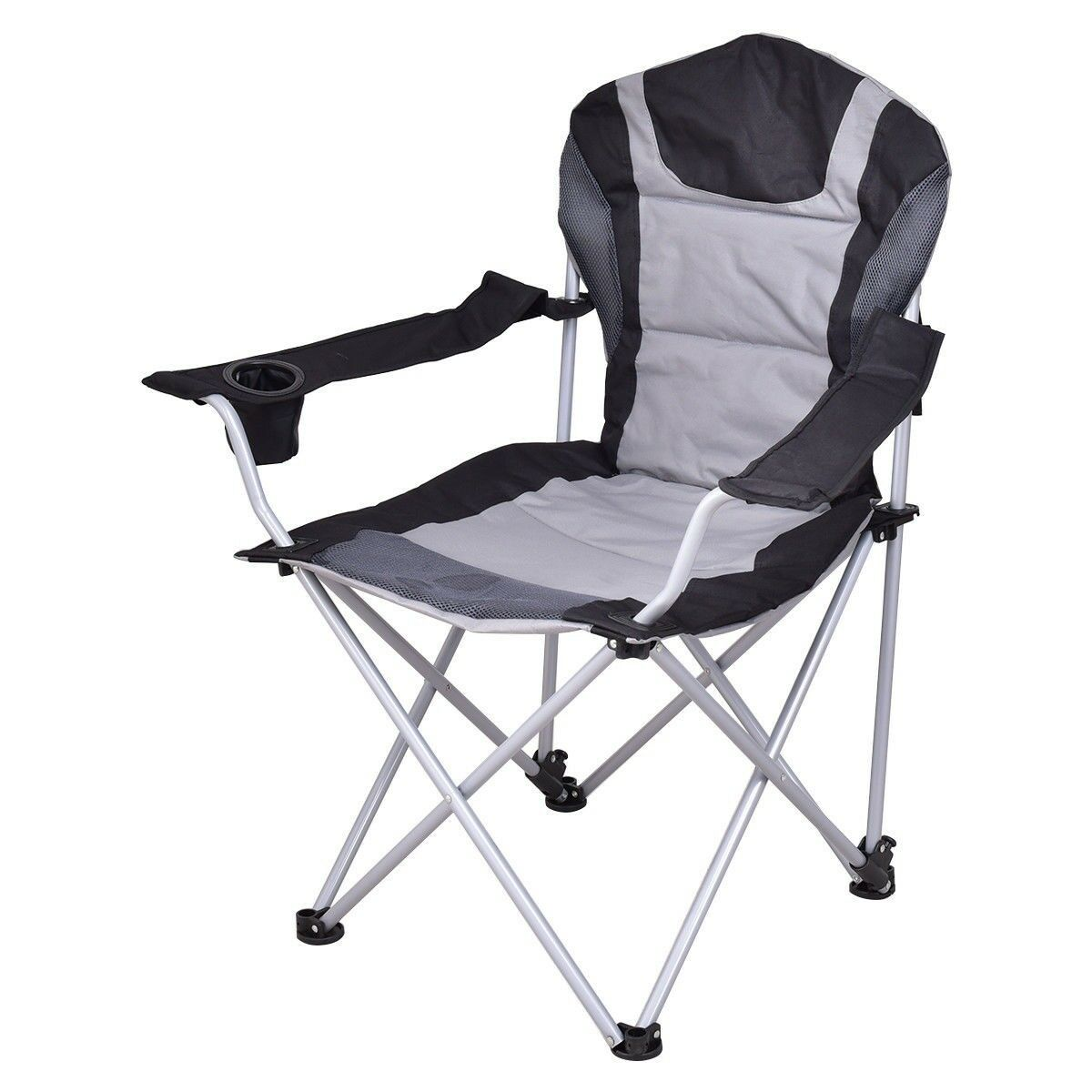Beach Picnic Outdoor Portable Folding Fishing Camping Chair Seat W  Cup Holder