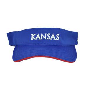 NCAA Adidas Kansas Jayhawks KU Adidas Sun Visor Blue Curved Bill Adjustable Hat
