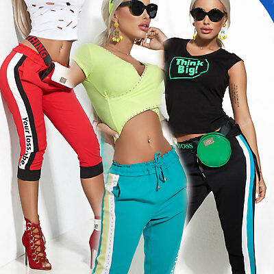 Clothing, Shoes & Accessories Qualified By Alina Damenhose Chinohose Boyfriendhose Caprihose Trackpants 3/4 Hose Xs-m