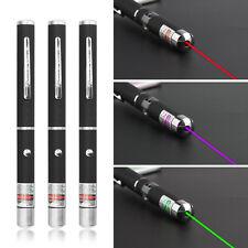 3 x Laser Pen Beam Light Grün + Lila + Roter Lazer Light Pointer 3 Stück