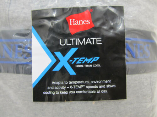 Hanes X-TEMP Big and Tall Men/'s Underwear Gray Soft Cotton BRIEFS 3-Pack NIP