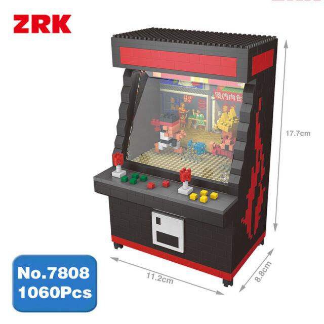 Zrk Arcade Street Fighter Game Machine Diy Diamond Mini Building Nano Block Toy