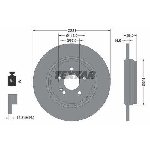 ORIGINAL TEXTAR bremsscheibensatz 2x disques de frein freinage frein