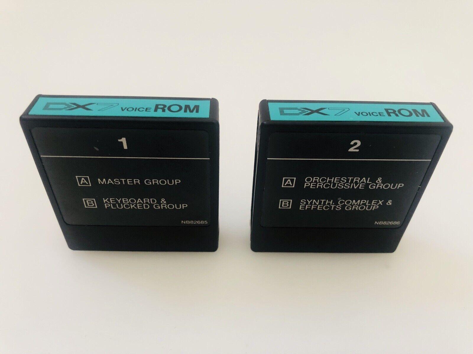 Yamaha DX7 Voice Rom Cartridge 1 & 2