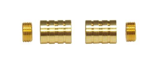 "HIDDEN SOCKET Brass Plated BRACKETS for 3//8/"" Rodding Doors /& Sidelights 1-Pair"