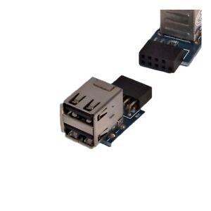 2-0-USB-2x-A-Kupplung-Buchse-Terminal-zum-Einbau-Einbaukupplung-Einbaubuchse