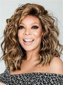 Details About Wendy Williams Medium Messy Loose Curly Hair Wigs Women S Medium Long Wig New