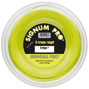 Signum Pro - Triton - 1.24mm/17G Tennis String - 200m Reel - Lemon