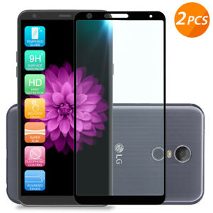 For-LG-Stylo-4-Plus-2-Pack-Black-Full-Coverage-Tempered-Glass-Screen-Protector