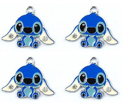 Wholesale Stitch Enamel Metal Charms Pendants Earrings Jewelry Making H168