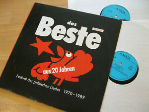 2 LP Das Beste aus 20 Jahren Festival politischen Liedes  Amiga 8 45 374/375