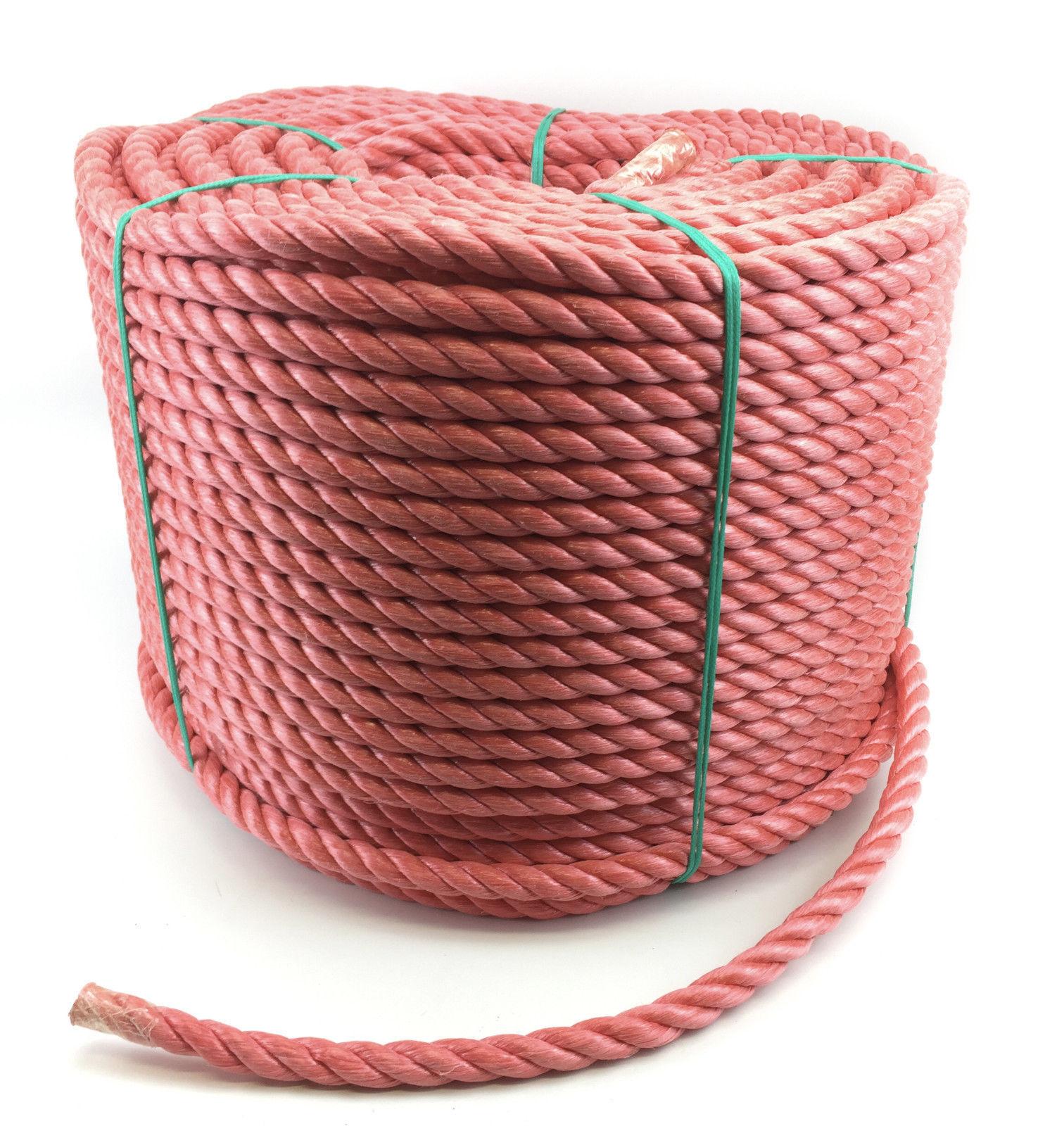 20mm rot POLYPROPYLEN SEIL 35 Meter, Poly-Seil Rollen, preiswert Nylon Seil