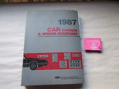 1987 Ford Car Mustang Thunderbird Crown Victoria Vacuum Wiring Diagrams Manual Ebay