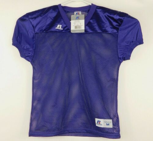 Russell Athletic Youth Purple Football Practice Jersey Sz M OverThePad