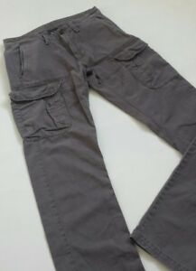 Men-039-s-Armani-chino-cargo-trousers-grey-color-Size-28-32-BNWOT
