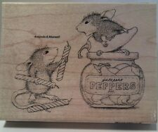 "New! ""Pepper Power""  HOUSE MOUSE Wood Mounted Rubber Stamp by Stampendous"