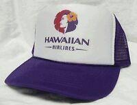 Hawaiian Airlines Trucker Hat Mesh Hat Snap Back Hat Purple