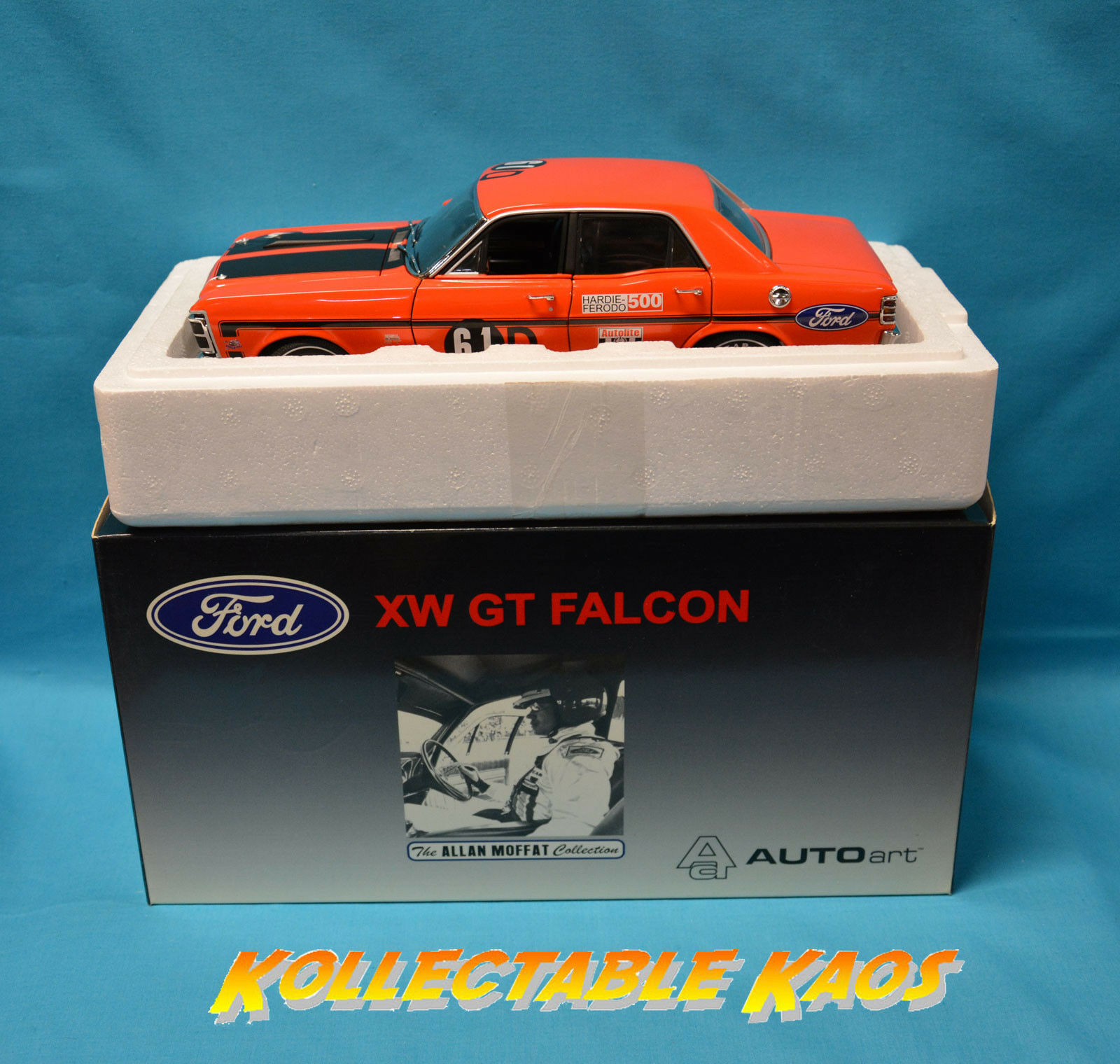 1 18 Biante - 1969 Bathurst-Ford XW Falcon GTHO-Moffat Hamilton