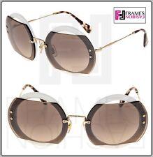 c4c3ad76af item 2 MIU MIU REVEAL 06S Gold Ivory Brown Round Oversized Sunglasses  MU06SS Women -MIU MIU REVEAL 06S Gold Ivory Brown Round Oversized  Sunglasses MU06SS ...