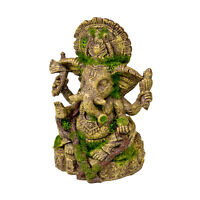 Blue Ribbon Pet Products Ganesha Statue With Moss Aquariums Decorations Ornament