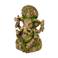 Blue Ribbon Pet Products Ganesha Statue With Moss Aquariums Decorations Ornament