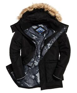 superdry coat xl black men's mountaineering military everest