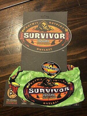 Survivor Panama Exile Island Green Buff New W Card And Tags Season 12 Ebay