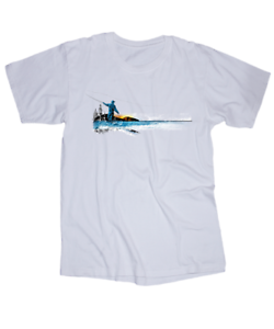 Details about Fly Fishing T-shirt Colorado River Montana Utah Mountains  Kayak